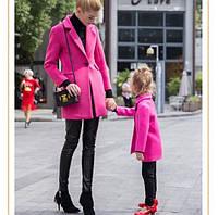 Одинаковые пальто мама и дочка кашемир