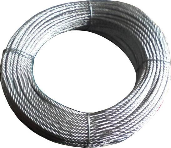 Трос стальной оцинкованный 3 мм, фото 2