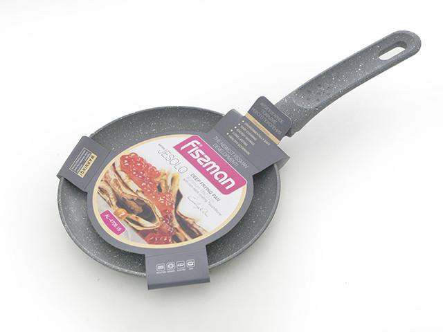 Сковорода для блинов 18 см с мраморным антипригарным покрытием Fissman Jesolo (AL-4709.18)