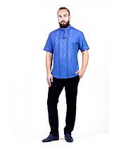 Рубашка вышитая крестиком и украшенная мережкой М-403-19 | Сорочка вишита хрестиком та оздоблена мережкою, фото 2