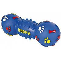 Trixie TX-3363 Гантель шипованная с пищалкой для собак 25см