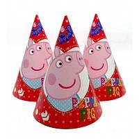 """Колпаки праздничные, маленькие """"Свинка Пеппа"""""""
