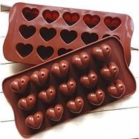 """Форма для конфет  из 15-ти """"сердце""""  в упаковке   №18785"""