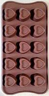 """Форма для конфет  из 15-ти """"сердце""""  в упаковке   №18787"""