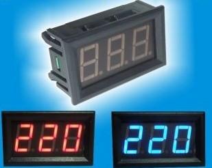 Вольтметр V27AC 75-300 В(синиие цифры)