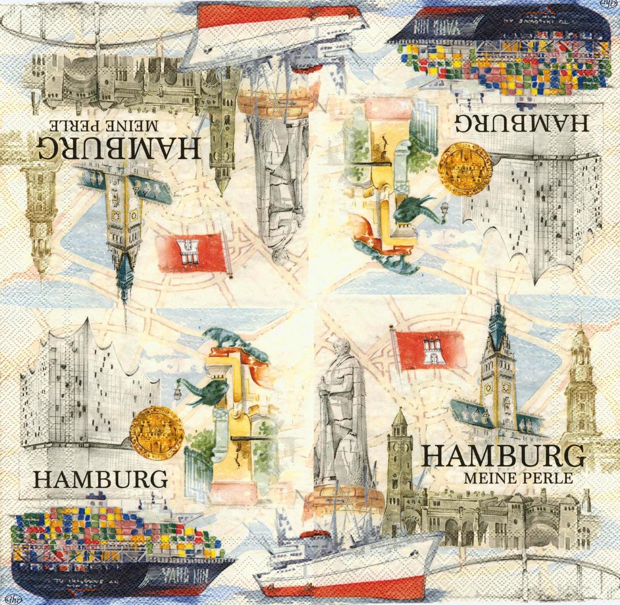 Салфетки для декупажа Гамбург 6632