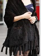Женская норковая шаль, палантин из скандинавской вязанной норки, 175 cm*40 cm