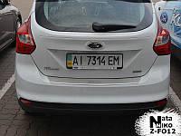 Ford Focus III SW Накладка на задний бампер с загибом Натанико