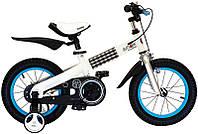 "Велосипед 2-х колесный  RoyalBaby Buttons Steel 16"" голубой"