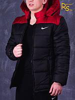 Зимняя мужская куртка Nike black-red