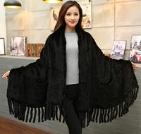 Женская норковая шаль из меха норки 170 cm*54 cm