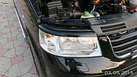 Реснички для фар Volkswagen Transporter T5 черный глянец
