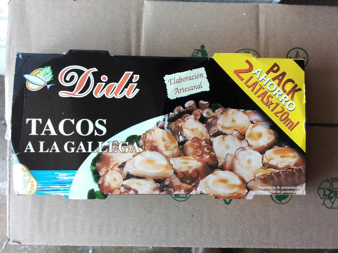 Кальмар в галицком соусе Tacos A la Gallega Didi, 220 г
