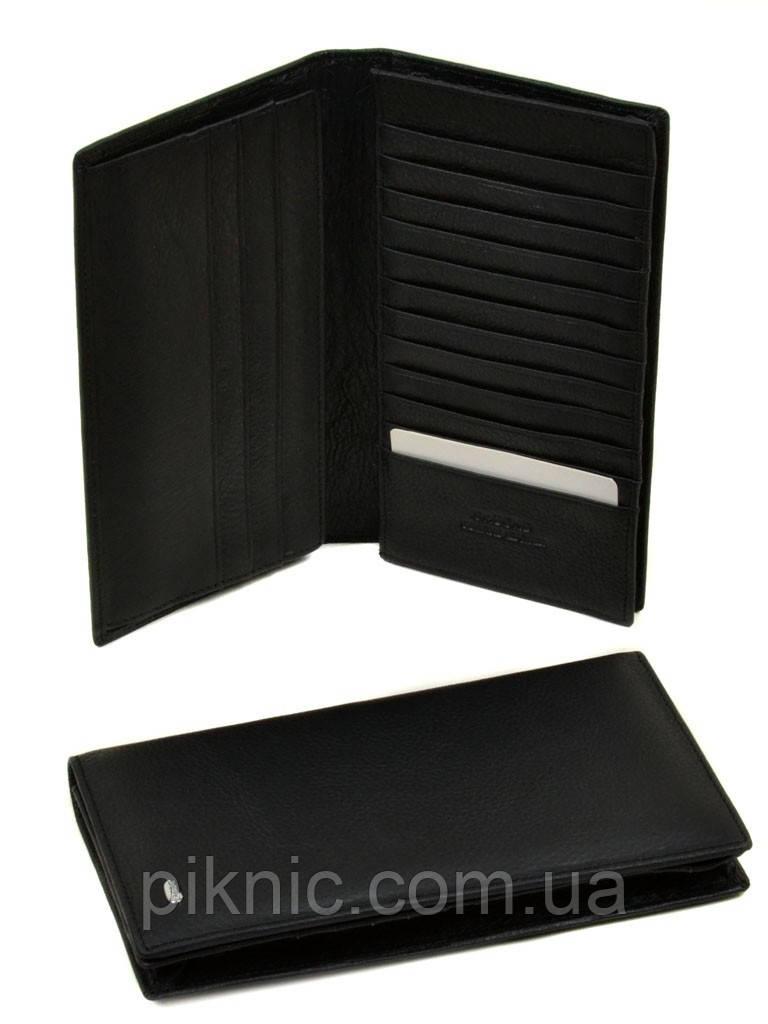 ec99e337c9ec Вместительный кожаный мужской клатч, кошелек, портмоне Dr Bond под визитки.  (натуральная кожа