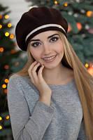 Берет женский ангора Палома коричневый