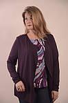 Блуза двійка баклажан ботал , бл 052-1, розмір 50-54, фото 4