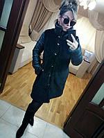 Меховое пальто из искусственного меха под мутон