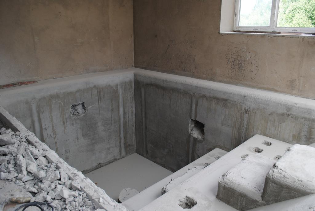 Выбивка (штроба) бетона под перелив