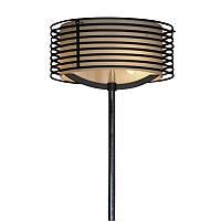 Торшер Lussole (Italian brand) Busachi 3 лампы, черный с хромом.