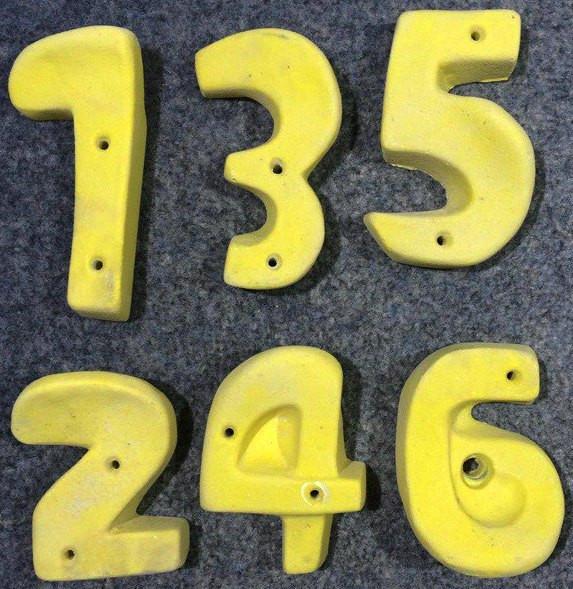 """Зачіп для дитячого скеледрому з штучного каменю """"Цифри"""" 10+ шт."""