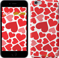 "Чехол на iPhone 6 Plus Красные сердца ""721c-48"""