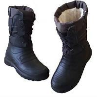 Мужские зимние сапоги-дутики черные р.41-45 ЕВА пена внутри на меху, тепло, сухо, комфортно