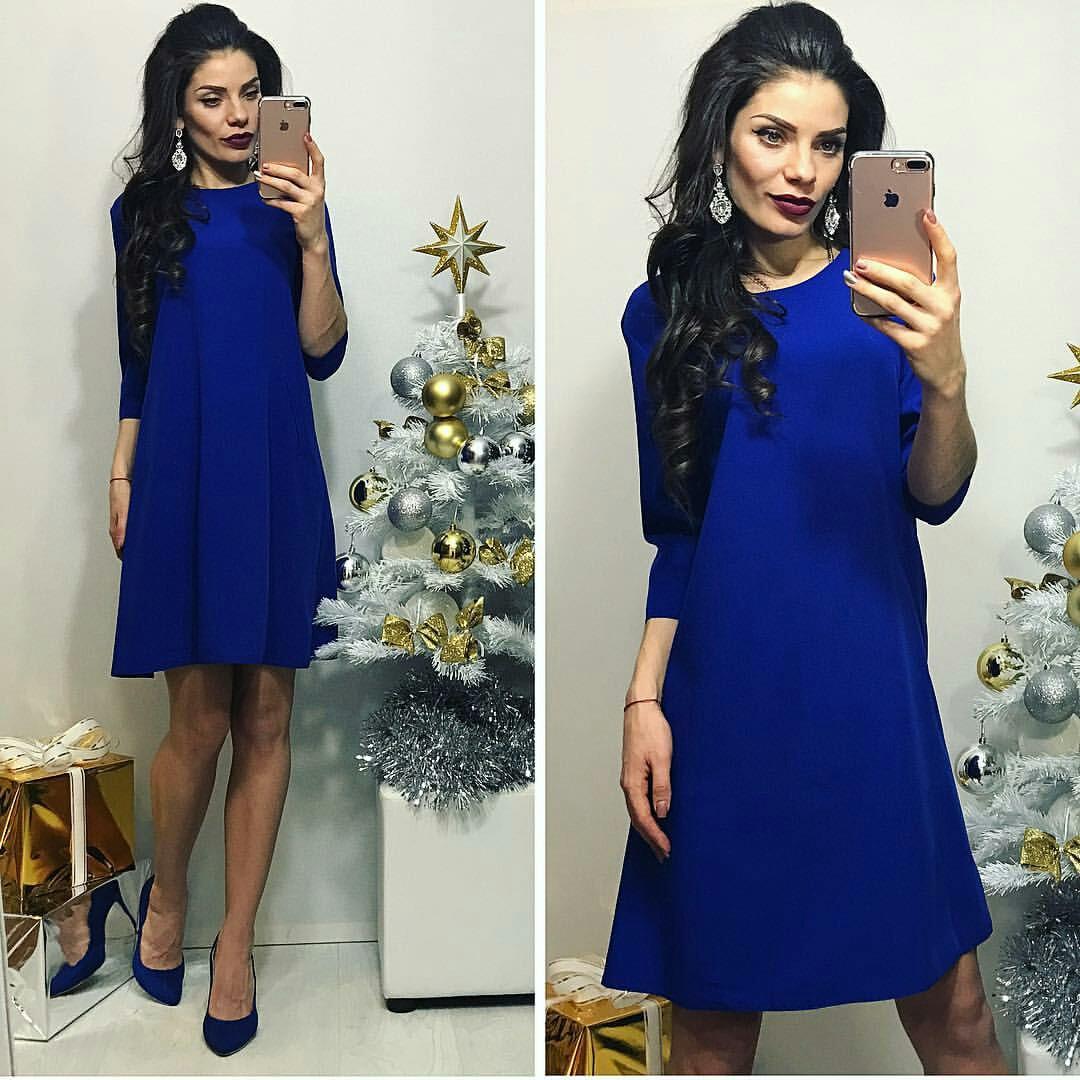 Платье женское, модель 769, электрик