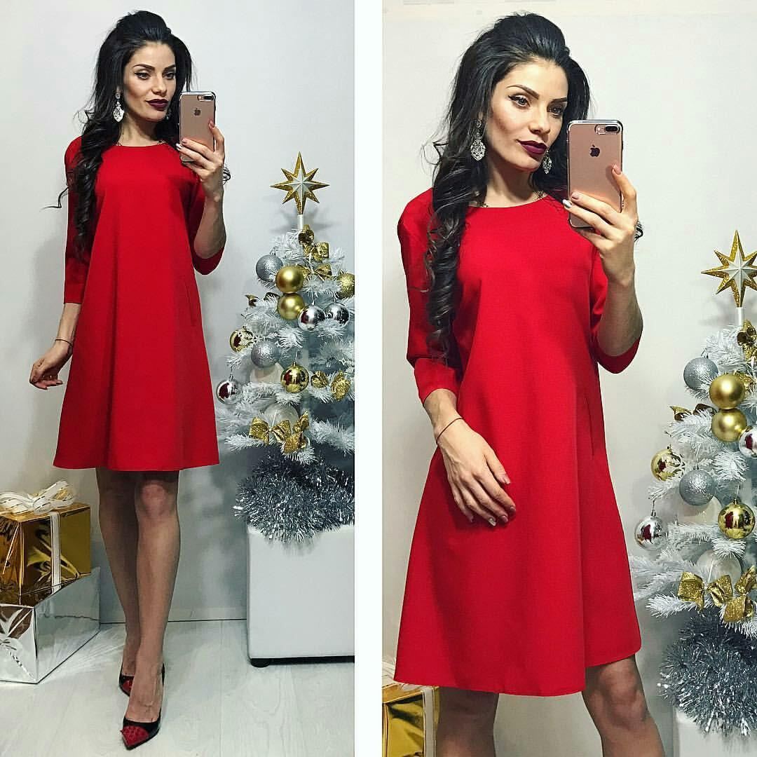 Платье женское, модель 769, красный