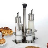 Набор: дозаторы для сахара и сливок, солонка и перечница на подставке BergHOFF 1109800