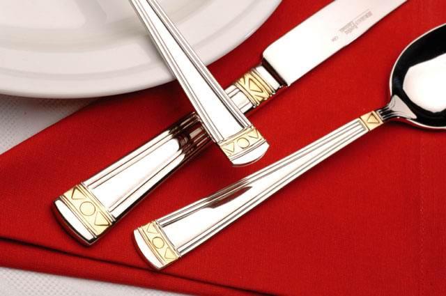Набор столовых приборов из 72 предметов на 12 персон BergHOFF Nova gold 1272498
