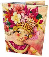 Красивая кожаная обложка для паспорта ТАЙЛАНД 01-01-245  Девайс Мейкер