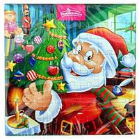 "Шоколадные конфеты + пазлы Pomorzanka ""Санта с елочкой"", 120 г"