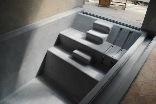 Строительство переливного бассейна (отделочные работы, установка оборудования)
