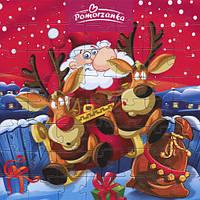 "Шоколадные конфеты + пазлы Pomorzanka ""Санта с оленями"", 120 г"