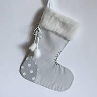 Новогодний носок для подарков #4