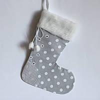 Новогодний носок для подарков #7