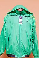 Двухсторонняя молодежная ветровка Adidas Q8965 54-56 / XXL Зеленый