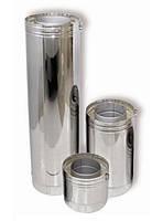 Труба из нерж.стали с теплоизоляцией в нержавеющем кожухе d300/360 1м, 1мм