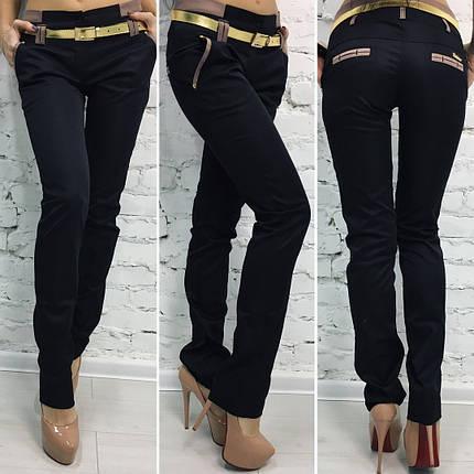 """Стильные женские брюки """"Мокко"""" с ремешком и карманами, фото 2"""
