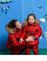 Зимние костюмы для мамы и ребенка