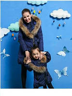 Куртки-пальто мама и дочка