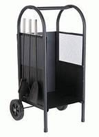 337133 Корзина для дров с аксессуарами для камина на колесах, 81 см (greemotion)