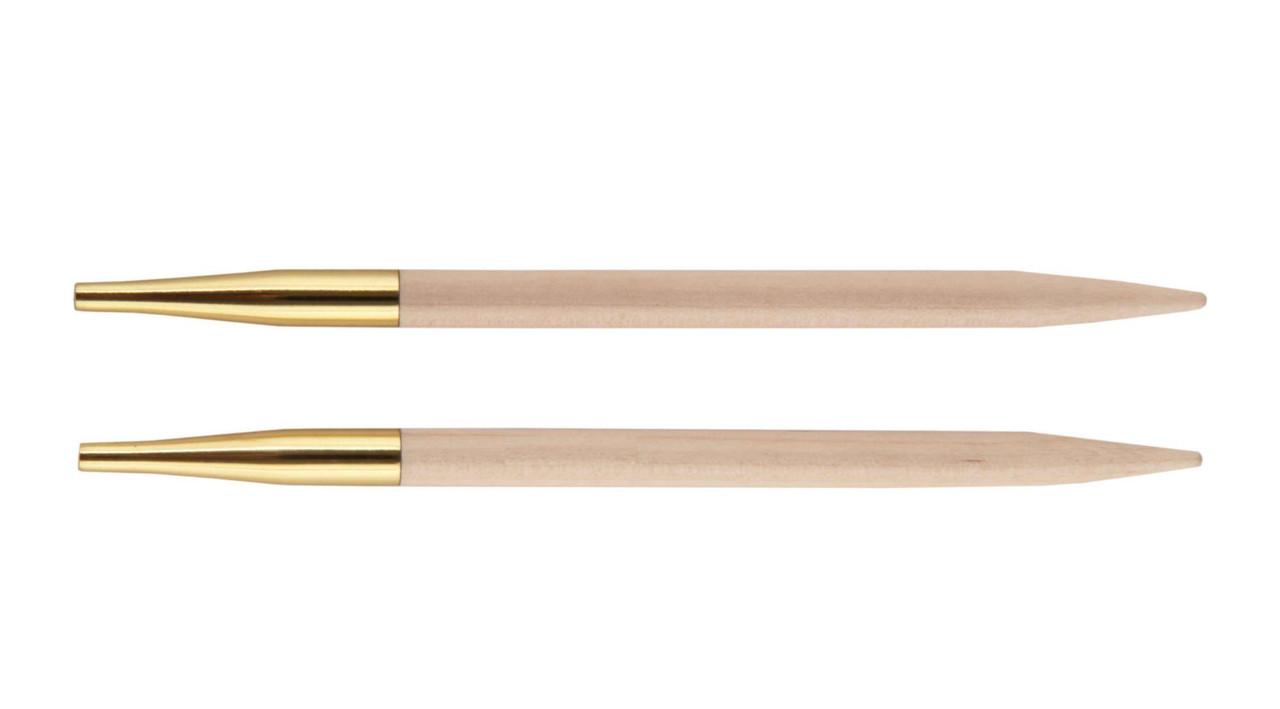 Спицы съемные короткие Basix Birch Wood KnitPro, 4.00 мм