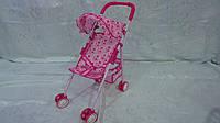 Коляска для куклы прогулочная металическая ,500 *480* 240мм,козырек, корзина для игрушек,поворотн. колеса,в па