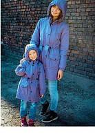 Эксклюзивный набор мама и дочка куртки парки