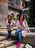 Пальто для мамы и дочки