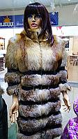 Шуба женская  из натурального меха лисы