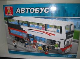 """Детский конструктор """"SLUBAN"""" """"Автобус"""", 2 этажа, 741 дет."""