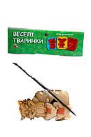 Веселые магнитики - раскраска Животные (Дерев'яна іграшка)