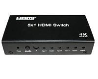 Logan HDMI свитчер 5х1 (5 входа - 1 выход)